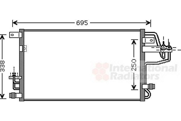 Condenseur, climatisation - VAN WEZEL - 82005156