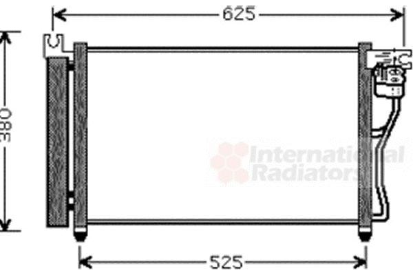Condenseur, climatisation - VAN WEZEL - 82005164