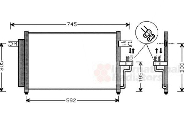Condenseur, climatisation - VAN WEZEL - 82005165