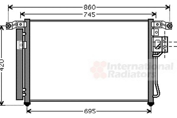 Condenseur, climatisation - VAN WEZEL - 82005176