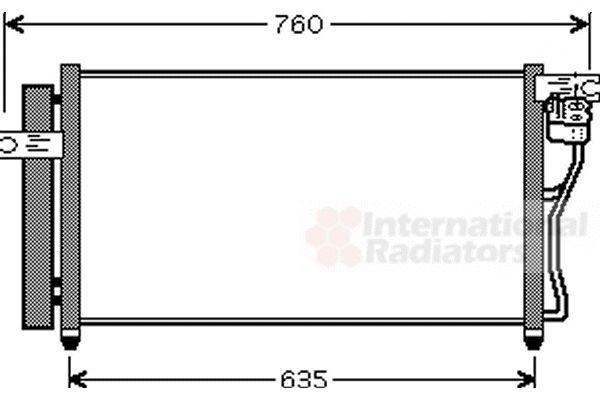 Condenseur, climatisation - VAN WEZEL - 82005178