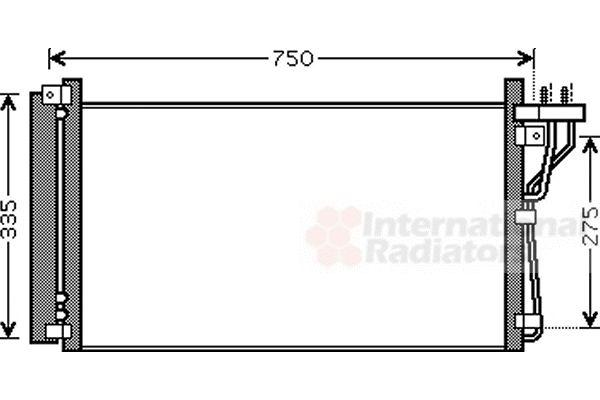Condenseur, climatisation - VAN WEZEL - 82005184