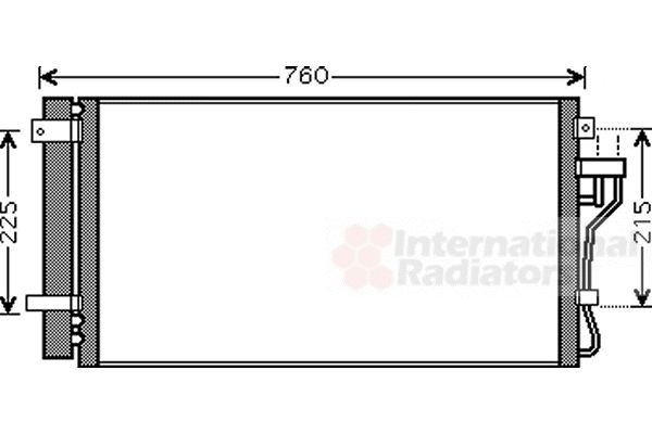 Condenseur, climatisation - VAN WEZEL - 82005190