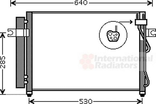 Condenseur, climatisation - VAN WEZEL - 82005195