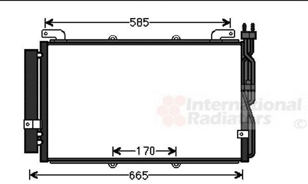 Condenseur, climatisation - VAN WEZEL - 82005220