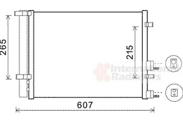 Condenseur, climatisation - VAN WEZEL - 82005244