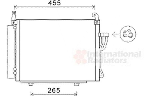Condenseur, climatisation - VAN WEZEL - 82005245