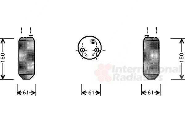 Filtre déshydratant, climatisation - VAN WEZEL - 8200D001