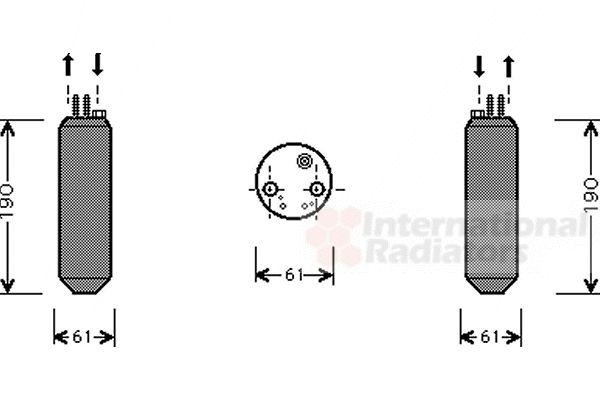 Filtre déshydratant, climatisation - VAN WEZEL - 8200D080