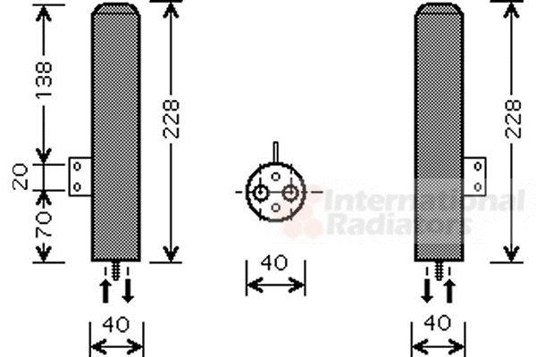 Filtre déshydratant, climatisation - VAN WEZEL - 8200D193