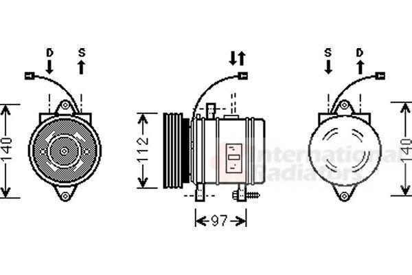 Compresseur, climatisation - VAN WEZEL - 8200K013