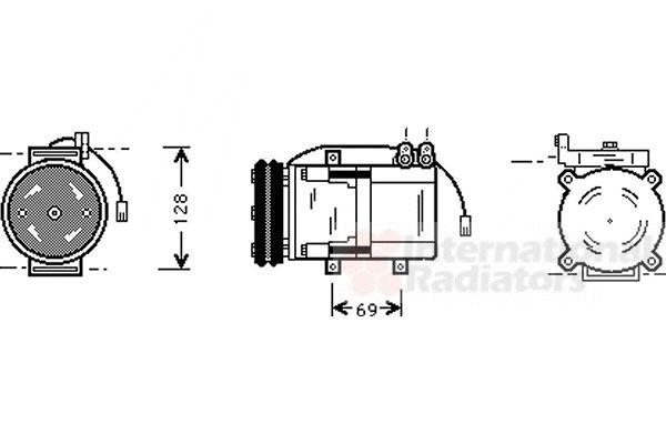 Compresseur, climatisation - VAN WEZEL - 8200K063