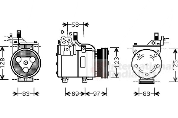 Compresseur, climatisation - VWA - 88VWA8200K093