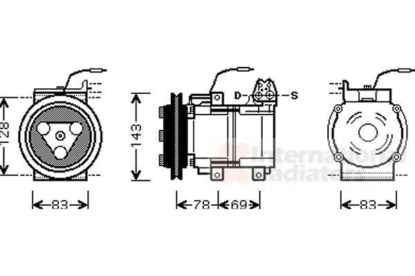 Compresseur, climatisation - VWA - 88VWA8200K124