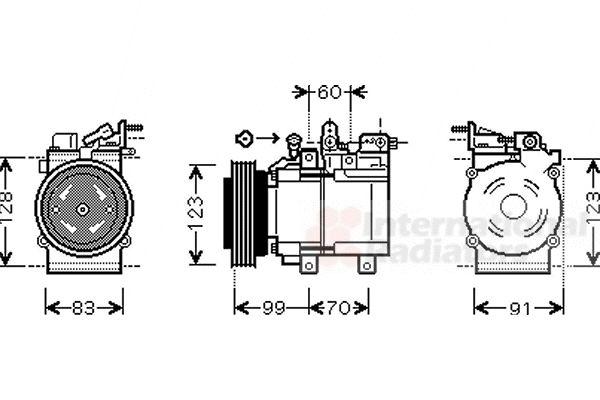 Compresseur, climatisation - VAN WEZEL - 8200K138