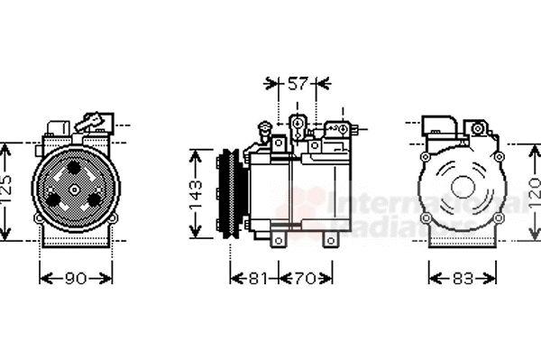 Compresseur, climatisation - VAN WEZEL - 8200K139