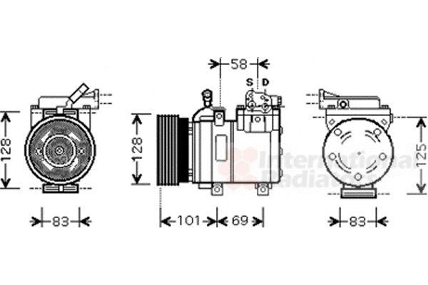 Compresseur, climatisation - VAN WEZEL - 8200K159