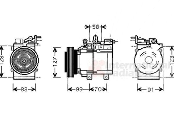 Compresseur, climatisation - VAN WEZEL - 8200K160