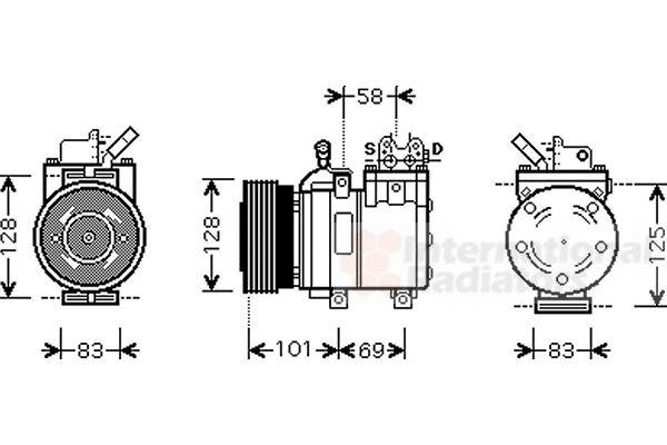 Compresseur, climatisation - VAN WEZEL - 8200K166