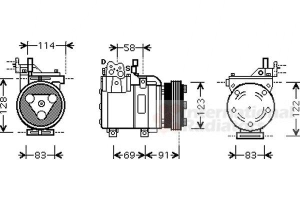 Compresseur, climatisation - VWA - 88VWA8200K196