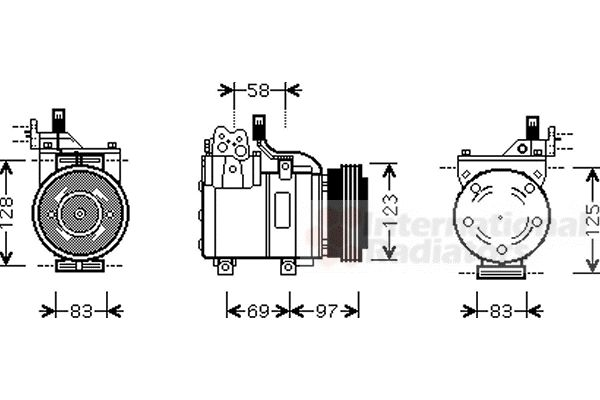Compresseur, climatisation - VAN WEZEL - 8200K198