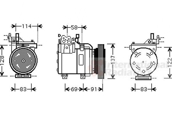 Compresseur, climatisation - VAN WEZEL - 8200K199