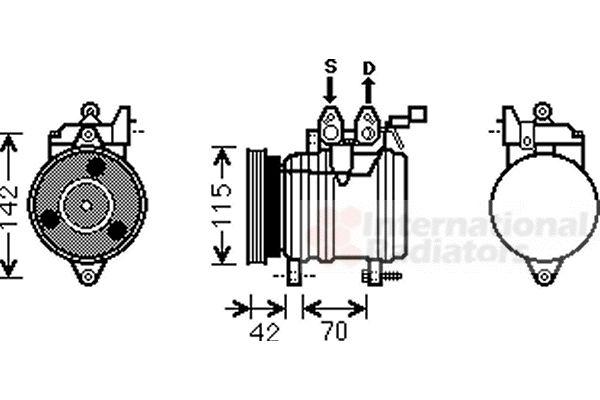 Compresseur, climatisation - VAN WEZEL - 8200K201