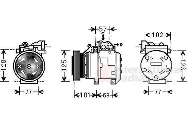 Compresseur, climatisation - VAN WEZEL - 8200K208