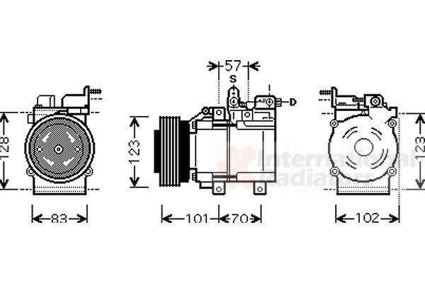 Compresseur, climatisation - VWA - 88VWA8200K209