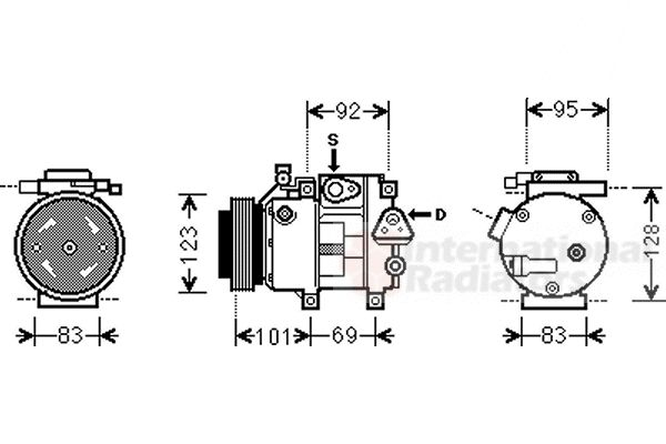 Compresseur, climatisation - VAN WEZEL - 8200K214