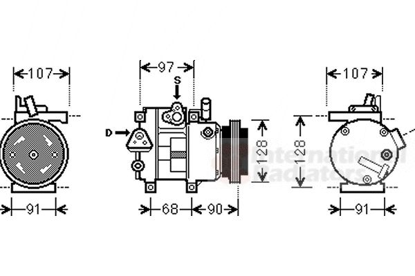 Compresseur, climatisation - VAN WEZEL - 8200K215