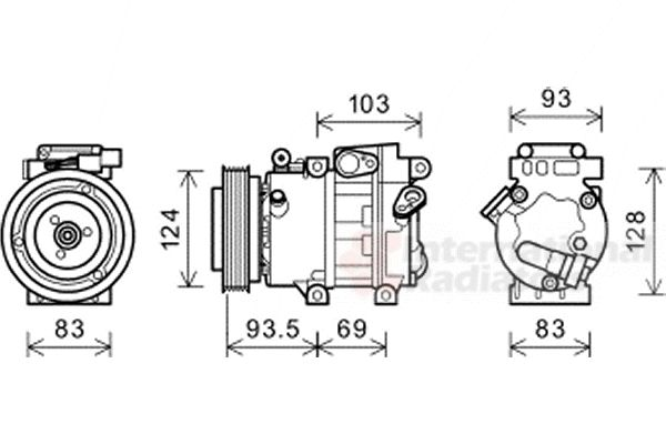 Compresseur, climatisation - VAN WEZEL - 8200K238