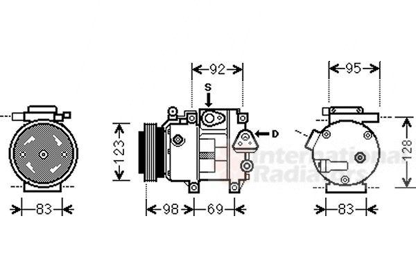 Compresseur, climatisation - VAN WEZEL - 8200K239