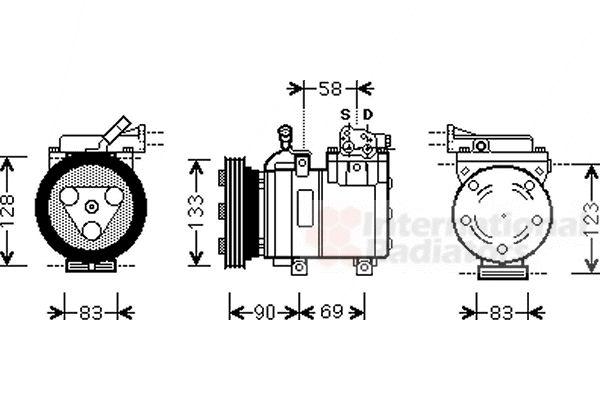 Compresseur, climatisation - VAN WEZEL - 8200K250