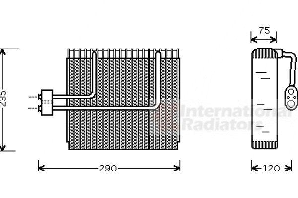 Evaporateur climatisation - VAN WEZEL - 8200V002