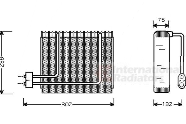 Evaporateur climatisation - VAN WEZEL - 8200V014