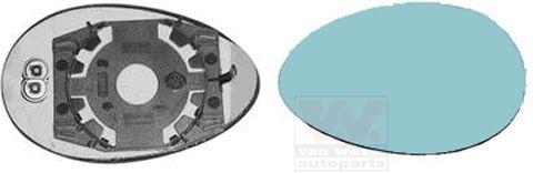 Verre de rétroviseur, rétroviseur extérieur - VWA - 88VWA0156837
