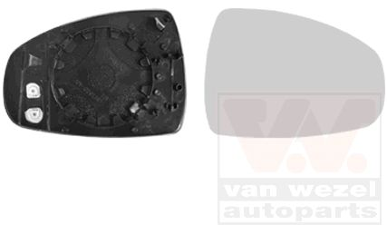 Verre de rétroviseur, rétroviseur extérieur - VWA - 88VWA0301838