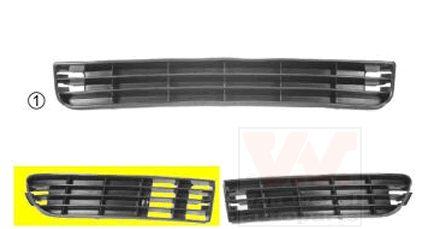Grille de ventilation, pare-chocs - VWA - 88VWA0314504