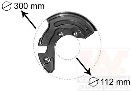 Déflecteur, disque de frein - VAN WEZEL - 0323371