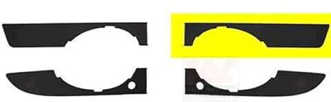 Grille de ventilation, pare-chocs - VWA - 88VWA0326593