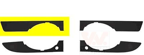 Grille de ventilation, pare-chocs - VWA - 88VWA0326594