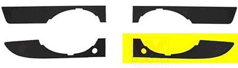 Grille de ventilation, pare-chocs - VAN WEZEL - 0326595