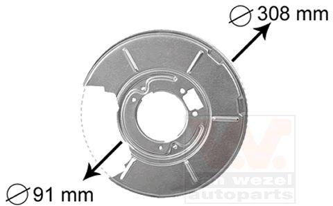 Déflecteur, disque de frein - VAN WEZEL - 0646374