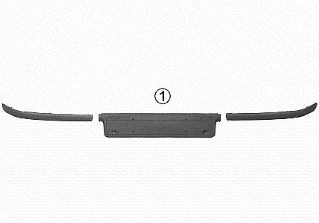 Baguette et bande protectrice, pare-chocs - VWA - 88VWA0646583