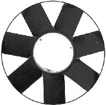 Roue du souffleur, refroidissement  du moteur - VAN WEZEL - 0646743
