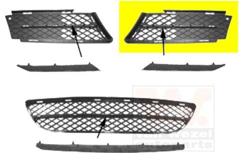 Grille de ventilation, pare-chocs - VWA - 88VWA0657593