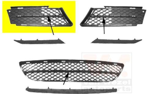 Grille de ventilation, pare-chocs - VAN WEZEL - 0657594