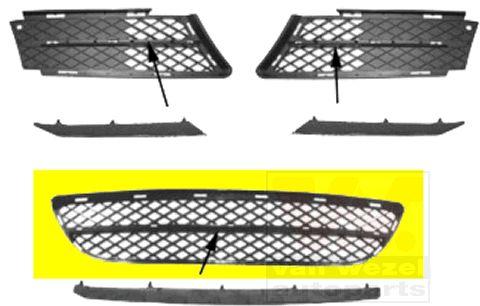 Grille de ventilation, pare-chocs - VWA - 88VWA0657599