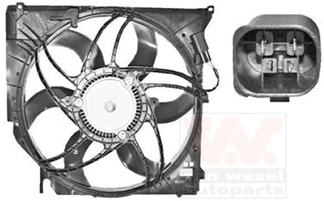 Ventilateur, refroidissement du moteur - VAN WEZEL - 0680746